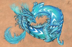 Cold fire dragon by AlviaAlcedo