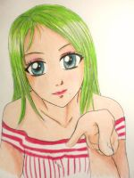Girl with Green Hair by jaZzLIn3egurll
