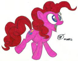 Pinkie Pie, Hoof Drawn, Colored by Ratchet-Wrench