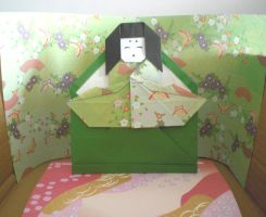 Origami - Kaguya-Hime in Bamboo by Andy-chanWantToDraw