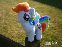 Rainbow Dash Plushie by HipsterOwlet