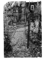 rusty gate. by LateRainyNights