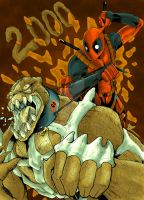 Deadpool and King Larry by BlackArachnid