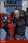 Cable and Deadpool - Selfy by RecklessJack