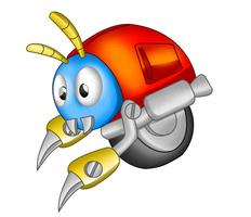 Moto Bug of Sonic 1 by TokeiTime