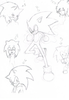The many styles of Sonic by BoredOutOfMyMindStud