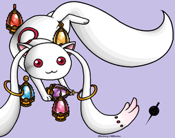 Kyubey on MS Paint by Gladssinay123
