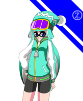 Splatoon - Lena (requested by Oshagirl) by zayzayo