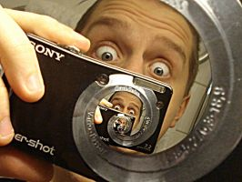 Droste self in mirror by callegg