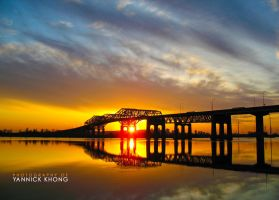 Fireball behind the Bridge by confucius-zero