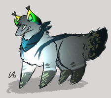 Ghost The Wolf Redesign by SkeleScribbles