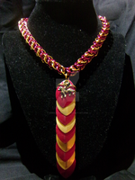 Gryffindor Chain/Scale Tie Necklace by NebulaDraconian