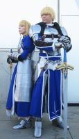 Anime Expo '12 Fate/Zero Male + Female King Arthur by ShipperTrish