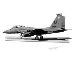 F-15E Strike Eagle by Sketchh22