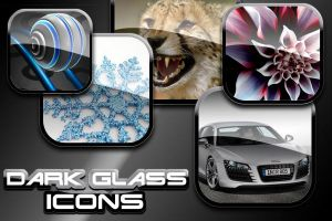 Dark Glass Icons by asdfgfunky