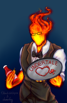 Collab: Grillby Launch Image by ElendichElipse