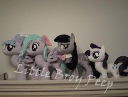 my little pony group plushies by Little-Broy-Peep