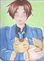 Hetalia italy and kitty by japanindisguise