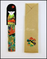 SOLD - Bookmark - Kokeshi (A) - Origami Paper by SuniMam