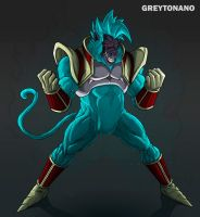 Baby Vegeta Oozaru SSJ BLUE by greytonano