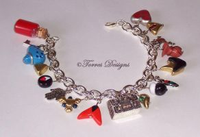 Ocarina of Time Charm Bracelet 9 ZELDA by TorresDesigns