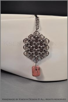 Rhodonite Pendant by KsenyaDesign