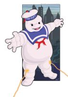 Stay Puft Marshmallow Man by Esdras78