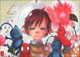 """48th ACEO """"Pikmin Overdose"""" by Hime-chama"""