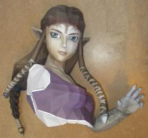 life size zelda assembly head and half a torso by minidelirium
