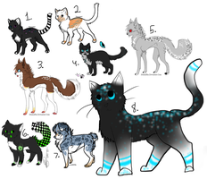 Giant jumble of adopts :Open: PRICE REDUCED by Jinx-Adopts