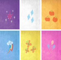 Mane 6 Wallpapers - iPhone 4 and 4th Gen iTouch by MythChaser1