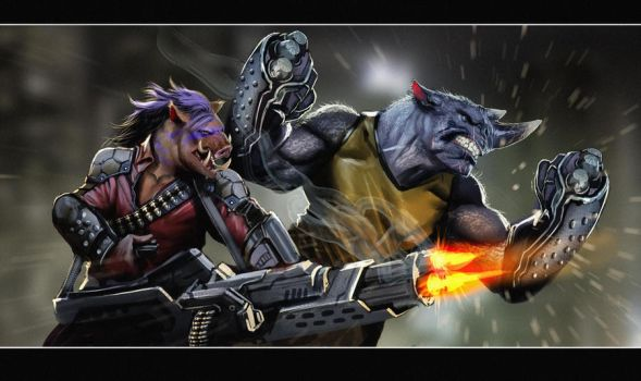 rocksteady and bebop rock by nebezial