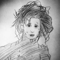 Edward Scissorhands sketch. by ArtGirl64