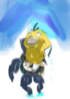 Psyduck Acid Trip by OrionsDagger