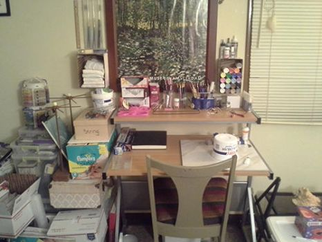 My work area ... by Crafted-DreamScapes
