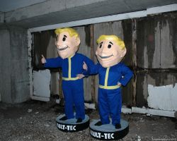 Vault-Tec bobble-heads - Fallout by ArcaneArchery