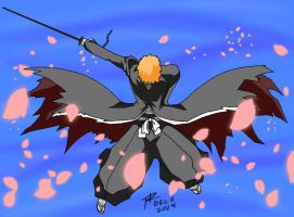 Bankai Ichigo - Colored by sprytedesign