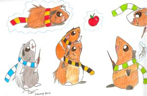 Guinea Pigs at Hogwarts by DracoJane7