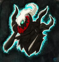 Darkrai Watercolor Black Blue by ellensama