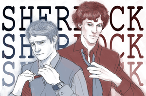 Sherlock and John by RoughReaill
