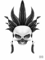 skull and feathers by gismo84