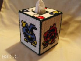 Dr Mario Tissue Box Cover by agorby00