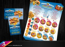 Menu and Business card by AnotherBcreation