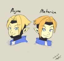Metarica and Majune by Snowflake-owl