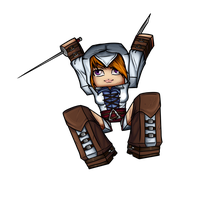 Minecraft Avatar - Assassin Girl (Coldice02) by GoldSolace