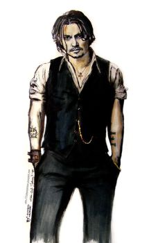 Johnny Depp Comic character by LizDouceFolie