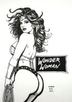 Wonder Woman Hair Flowing by BubbleBum420