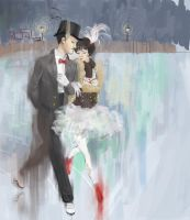 Ice skaters by Kimmiko