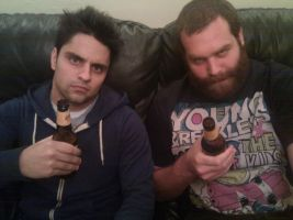 Havin a few beers with Epic Meal Time dude by REALRayWiliamJohnson