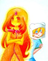 Finn and Flame princess by Matsy23